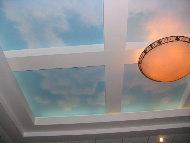 Airbrushed Sky Ceiling.
