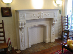 (Before) Fireplace.
