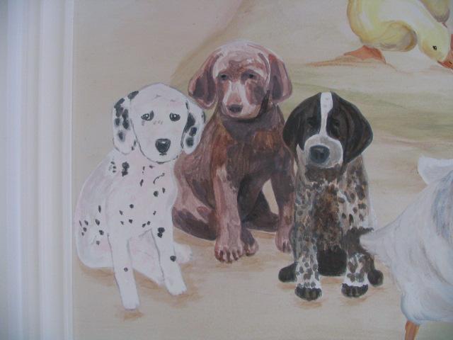 PUPPIES, FINE ART CREATED BY PAUL MAXWELL GODFREY