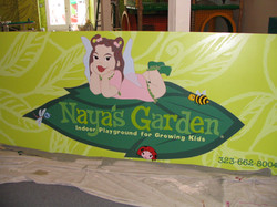 Handpainted Sign and Design.