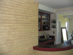 (AFTER) Bar area & Stone Walls