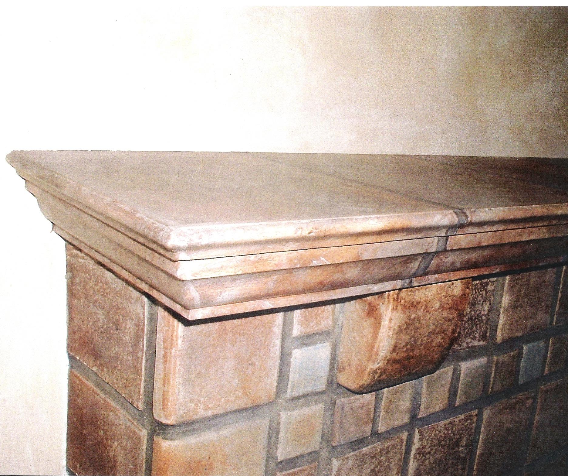 Trompe L'Oeil Fireplace Mantel.