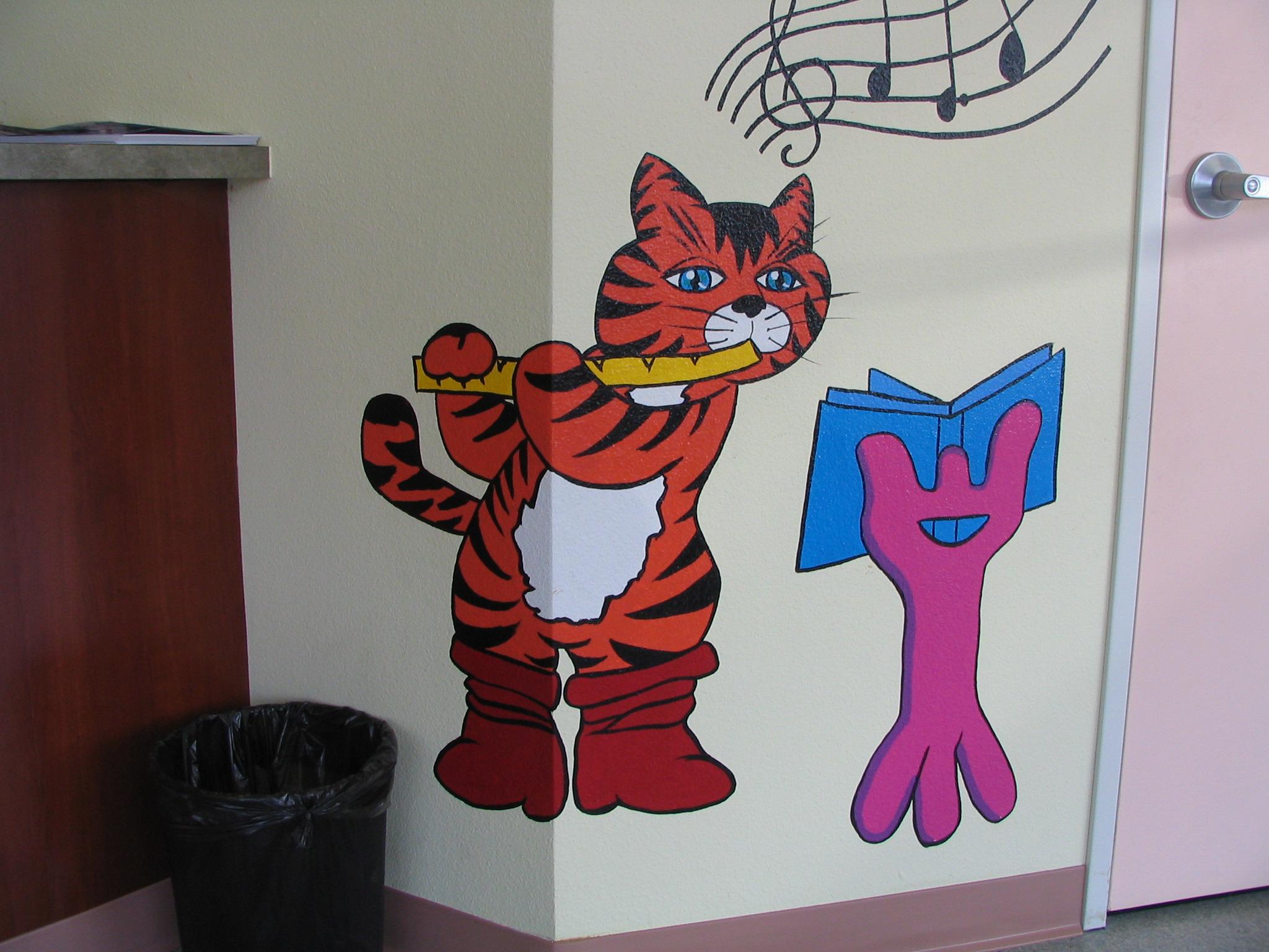 Kids Dental care handpainted Mural created by Paul Maxwell Godfrey