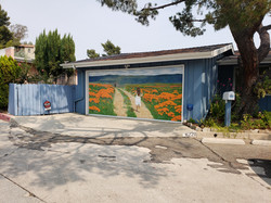(AFTER) Hollywood Hills Mural created by Paul Maxwell Godfrey Artist/Muralist