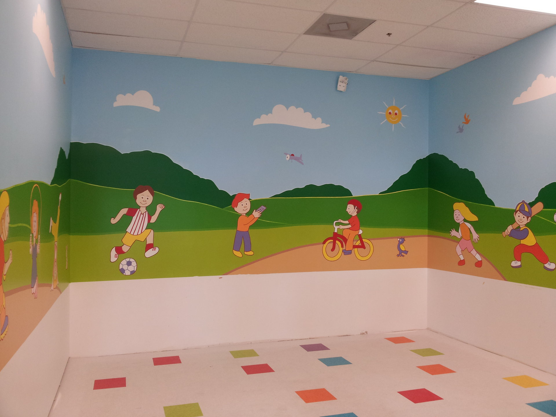 Wall Mural Kids playing CREATED BY PAUL MAXWELL GODFREY
