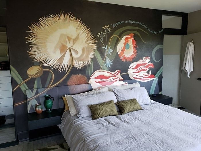 BEDROOM MURAL CREATED BY PAUL MAXWELL GODFREY