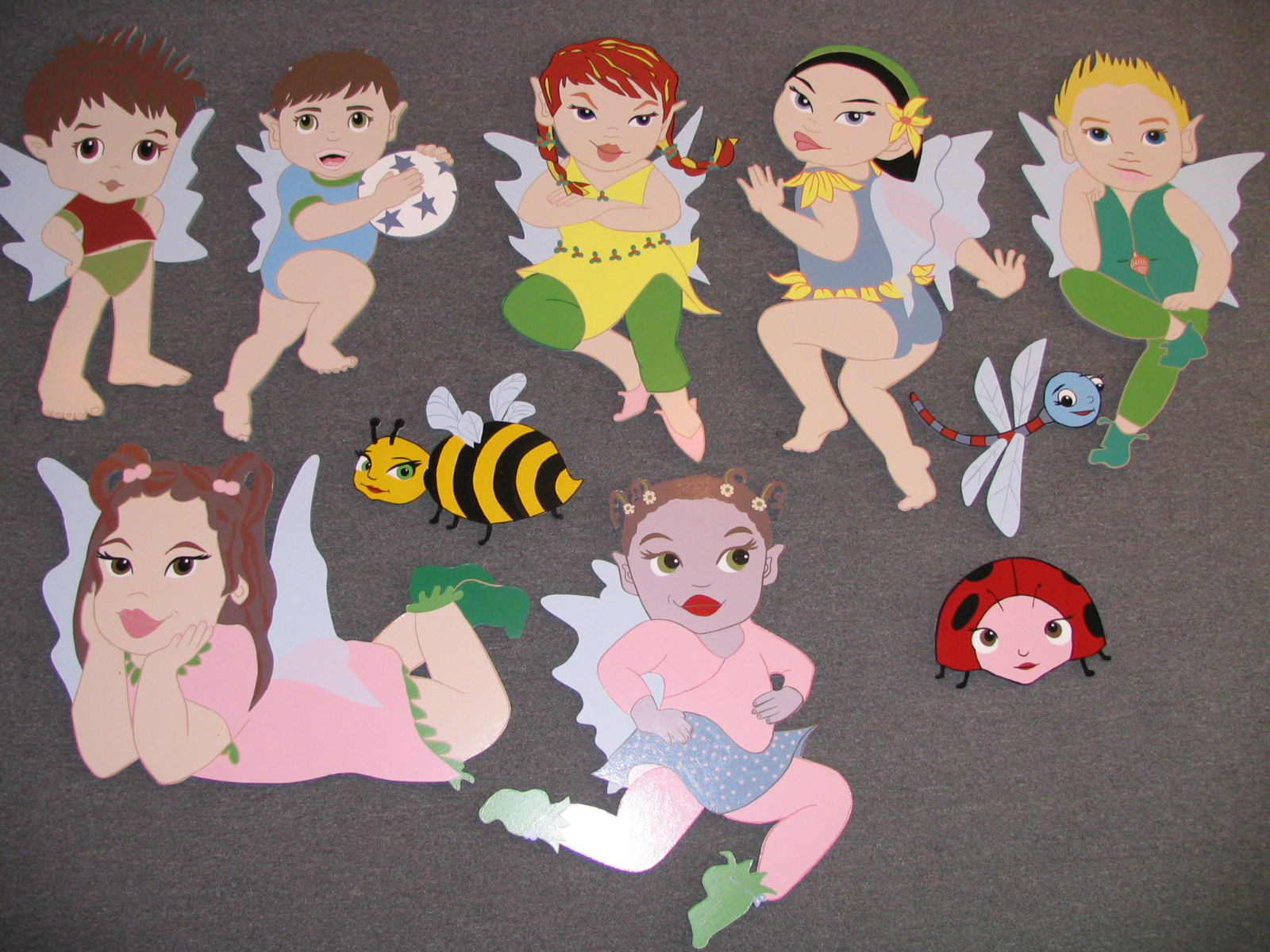 Large Handpainted Cut-outs.