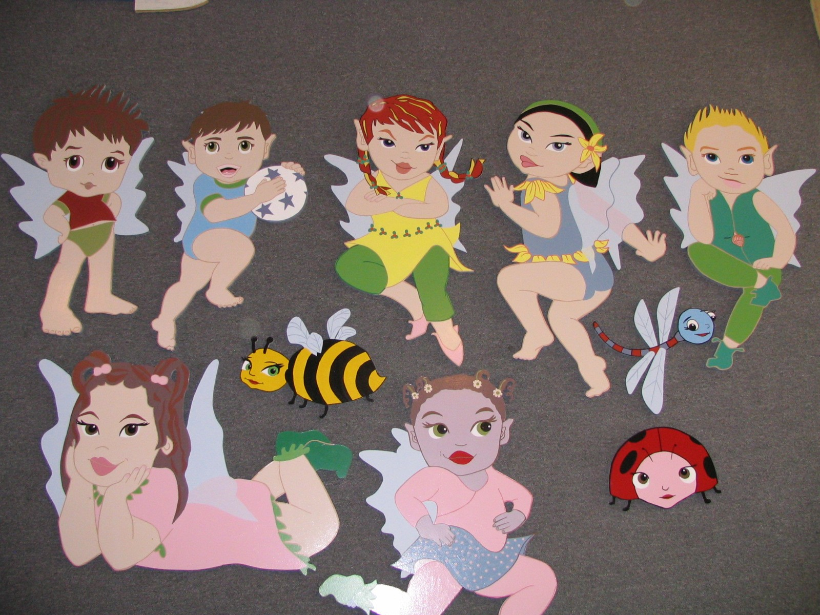 CHARACTERS FOR KIDS - HANDPAINTED BY PAUL MAXWELL GODFREY