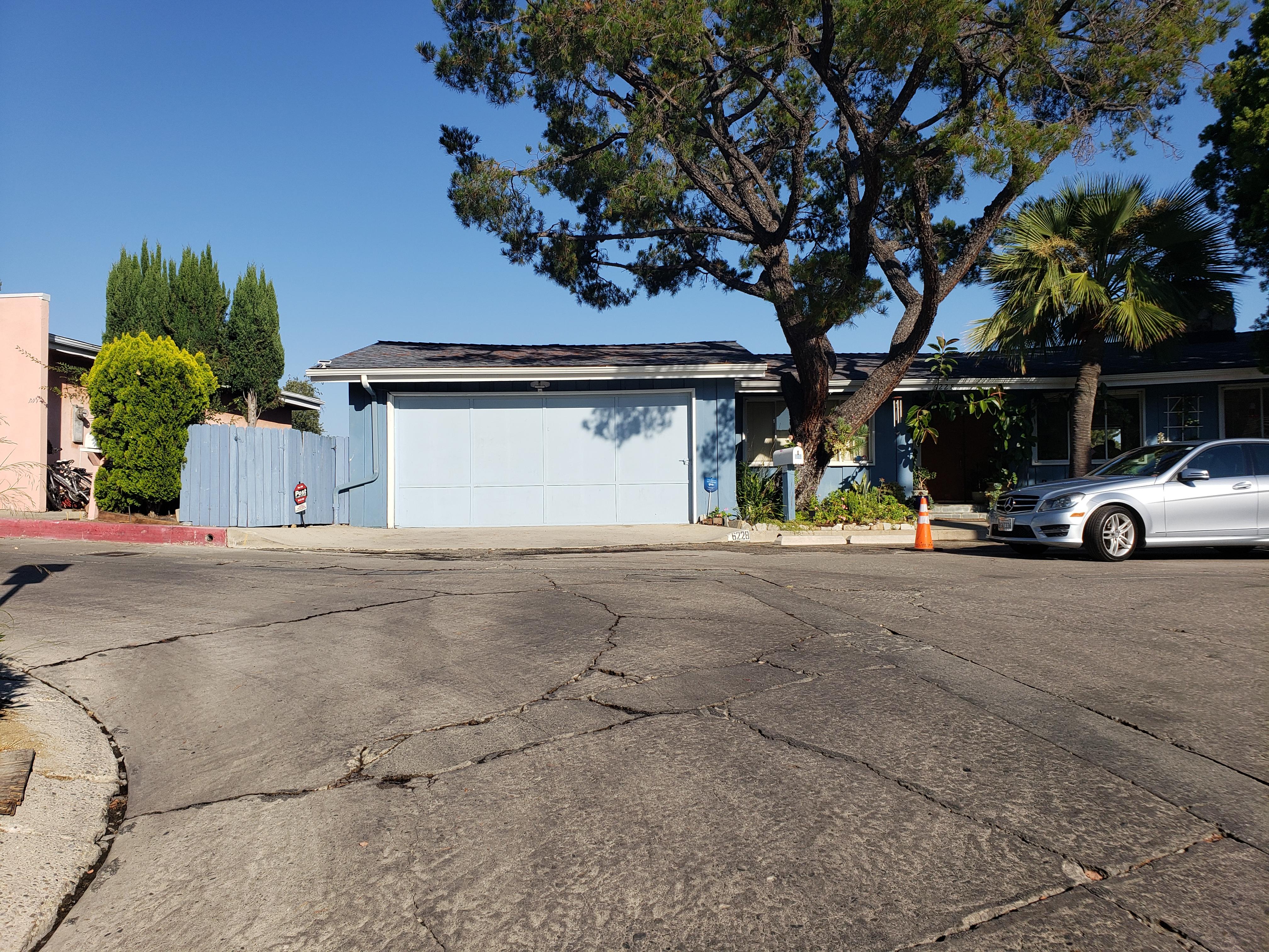(Before) Hollywood Hills Garage Door