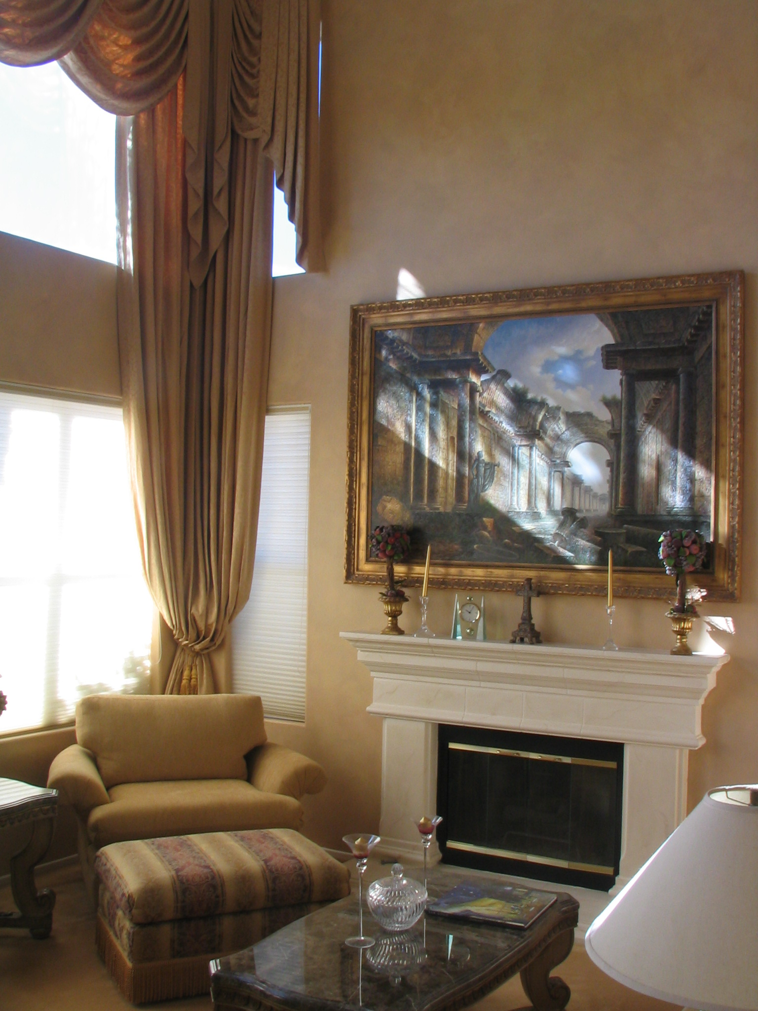 LIVING ROOM HANDPAINTED FAUX FINISH BY PAUL MAXWELL GODFREY