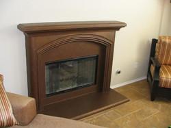 Bronze Faux Fireplace