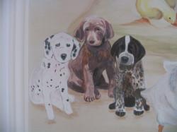 Wall Mural Puppies CREATED BY PAUL MAXWELL GODFREY