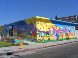 Wall Mural. Nursery Rhyme Design.