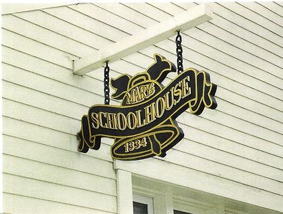 14.  3D Wooden Exterior Sign. 4' x 3'..j