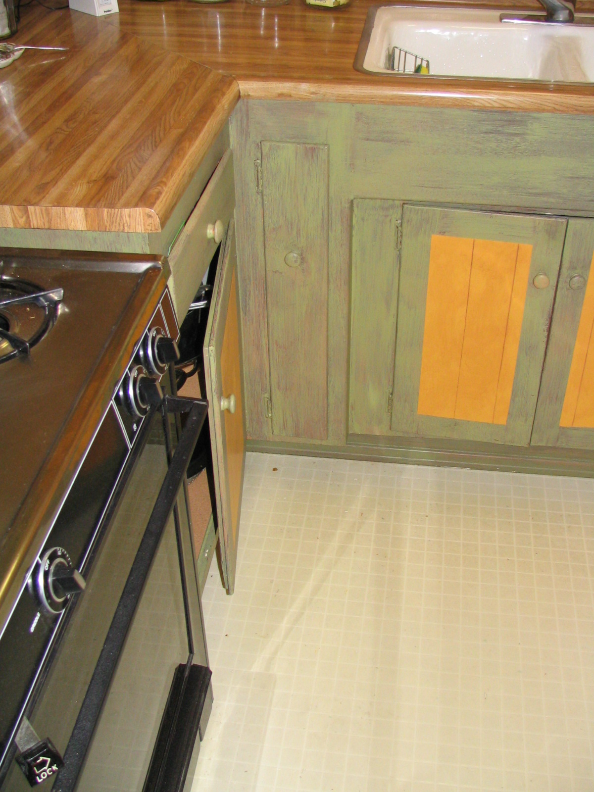 Rustic Faux Cabinets (AFTER)