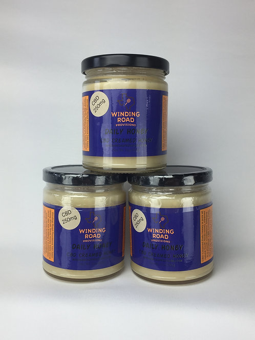 Daily Creamed Honey with Hemp CBD 3pack