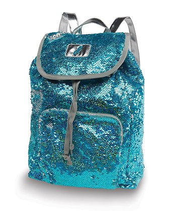 Clear Water Sequin Backpack