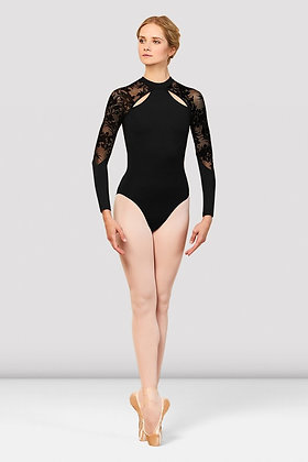 Kahlo Long Sleeve Mesh Back Leotard