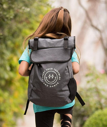 Forget Your Troubles and Dance - Roll-Top Backpack