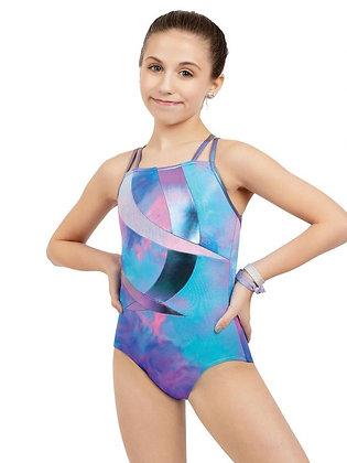 Gymnastics Double Strap Camisole Leotard - Girls