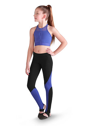 BLOCH - ZIP FRONT CROP TOP