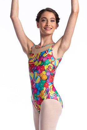 Child Sweets Tank Leotard with Mesh