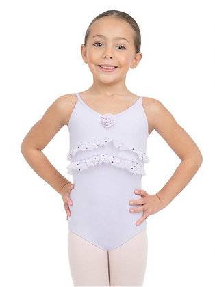 Glitter Rose Ruffled Camisole Leotard