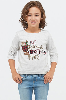 Kids Plaid hot cocoa long sleeve