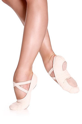 Child Stretch Canvas Ballet Shoe Without Drawstrings