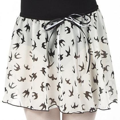 Swallow Print Pull On Skirt