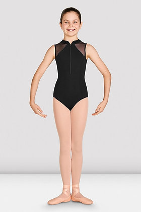 Misty Zip Front Mesh Back Leotard