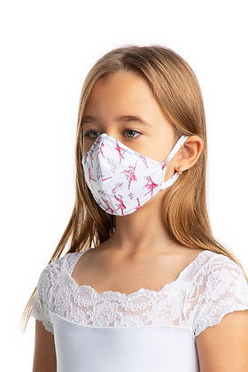 Child Fitted Print Face Mask with Ear Loops