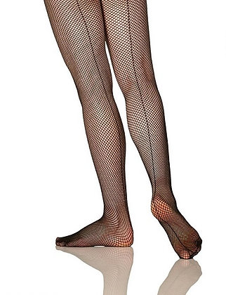 Fishnet Tight with Back Seam | 00326C - Child