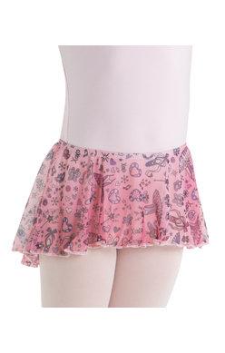 elastic pull-on high low skirt