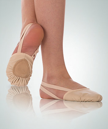 Leather Pleated Half Sole Slipper