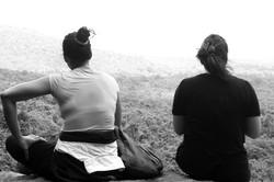silent contemplation