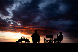 Sundowner drinks at the end of your Game Drive