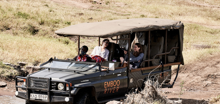 Game drive through the Maasai Mara