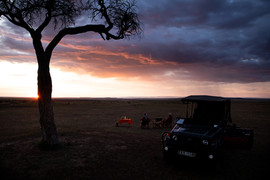 Watch the sun set after your Game Drive
