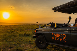 Sunset during your game drive
