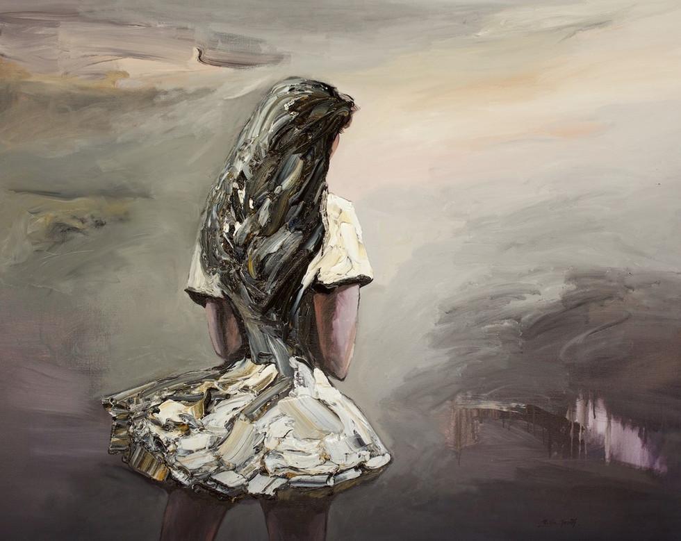 Palla+Jeroff+'Desert+Girl'+Oil+on+Linen+