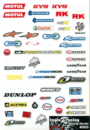 Taylo Racing Sponsor Stickers #003