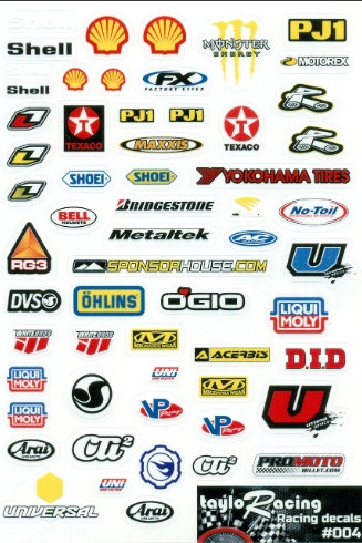 Taylo Racing Sponsor Stickers #004