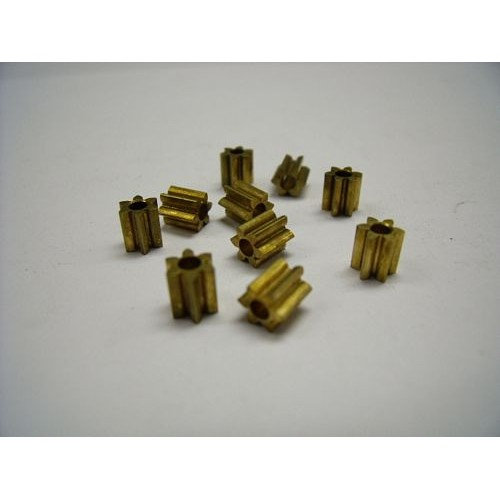 Brass 48 pitch 6 tooth solder pinion