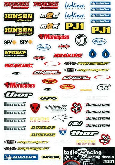 Taylo Racing Sponsor Stickers #001