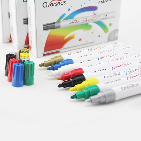 PMA-520 Eco-Friendly Marker Pen Golden, Silver, Yellow, Black, White, Blue, Red