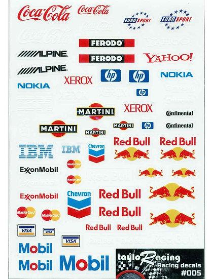 Taylo Racing Sponsor Stickers #005