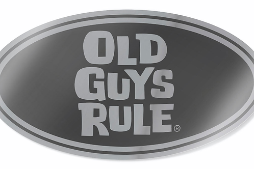 Sticker, Oval Stacked Logo  Silver