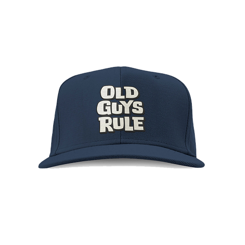 Old Guys Rule Cap, Blue Dusk Stacked Logo