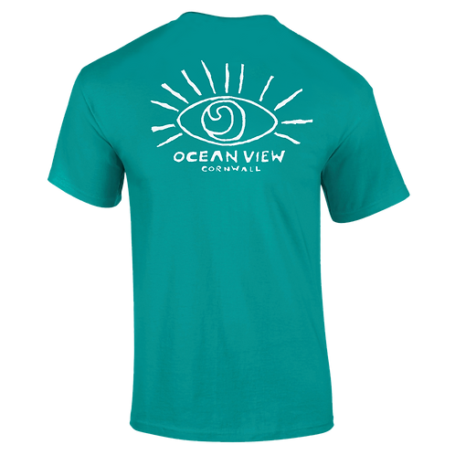 Ocean View Cornwall Tee Shirt  Eye Back Print